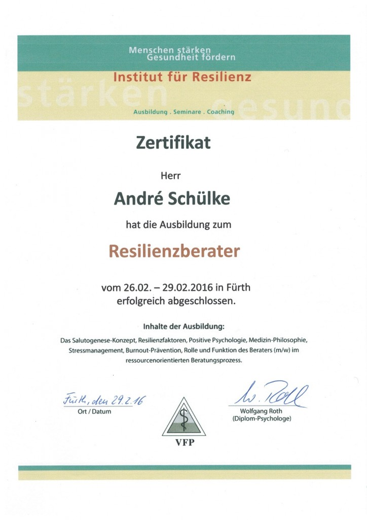André Schülke Resilienzberater